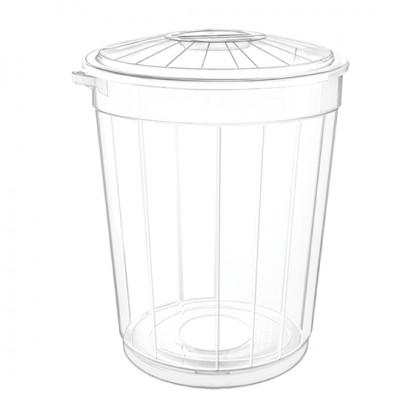 Çöp Kovası Kapaklı Şeffaf 50 Lt